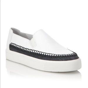 Vince Bates slip on sneaker leather denim 8